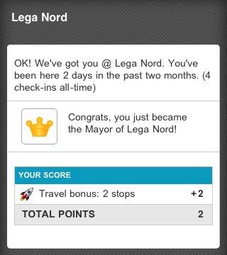 Lega Nord su Foursquare
