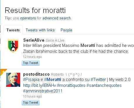 top tweet Moratti