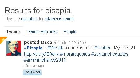 top tweet Pisapia