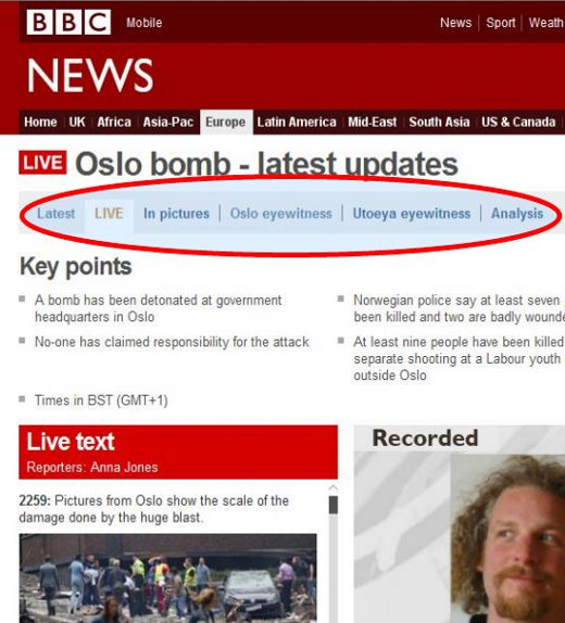 Oslo BBC coverage