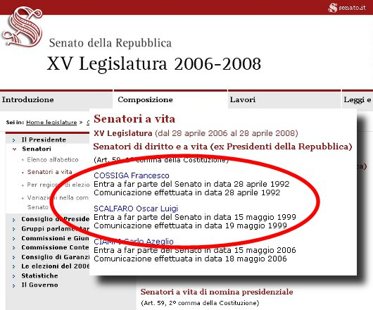 Senatori diversamente vivi my web 2 0 for Mail senatori