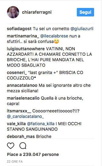 """Chiara Ferragni alle prese con """"granita"""" e """"cornetto"""""""